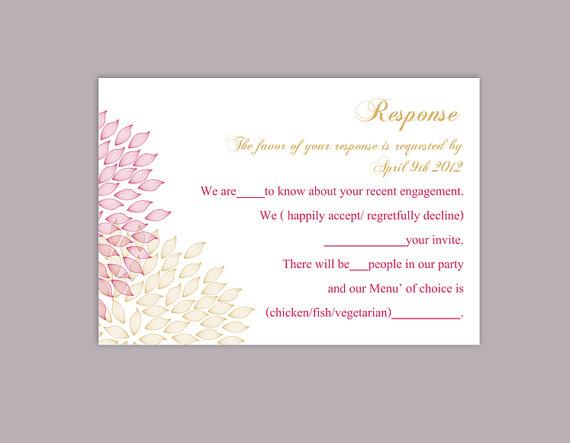DIY Wedding RSVP Template Editable Word File Instant Download Rsvp ...