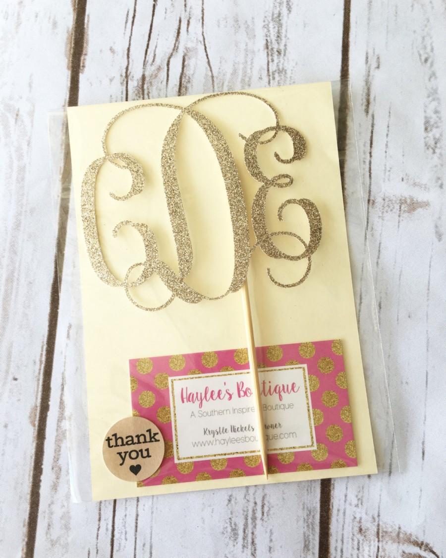 Mariage - Monogram Cake Topper - Wedding Cake Topper - Birthday Cake Topper - Baby Shower Cake Topper - Anniversary Cake Topper - Bachelorette Party