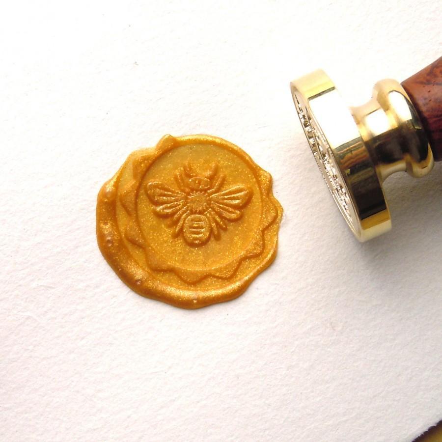 Свадьба - Bee Wax Seal Stamp Custom Order