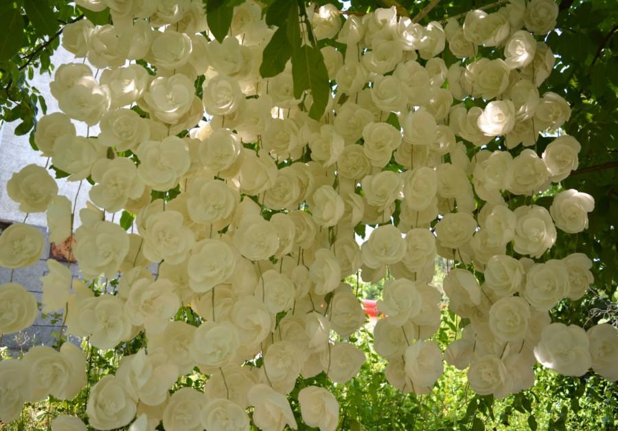 Mariage - Wedding garland backdrop,Wedding Garland Curtain,Wedding Ceremony Backdrop,Rustic Wedding Backdrop,Wedding background,Wedding arch decor