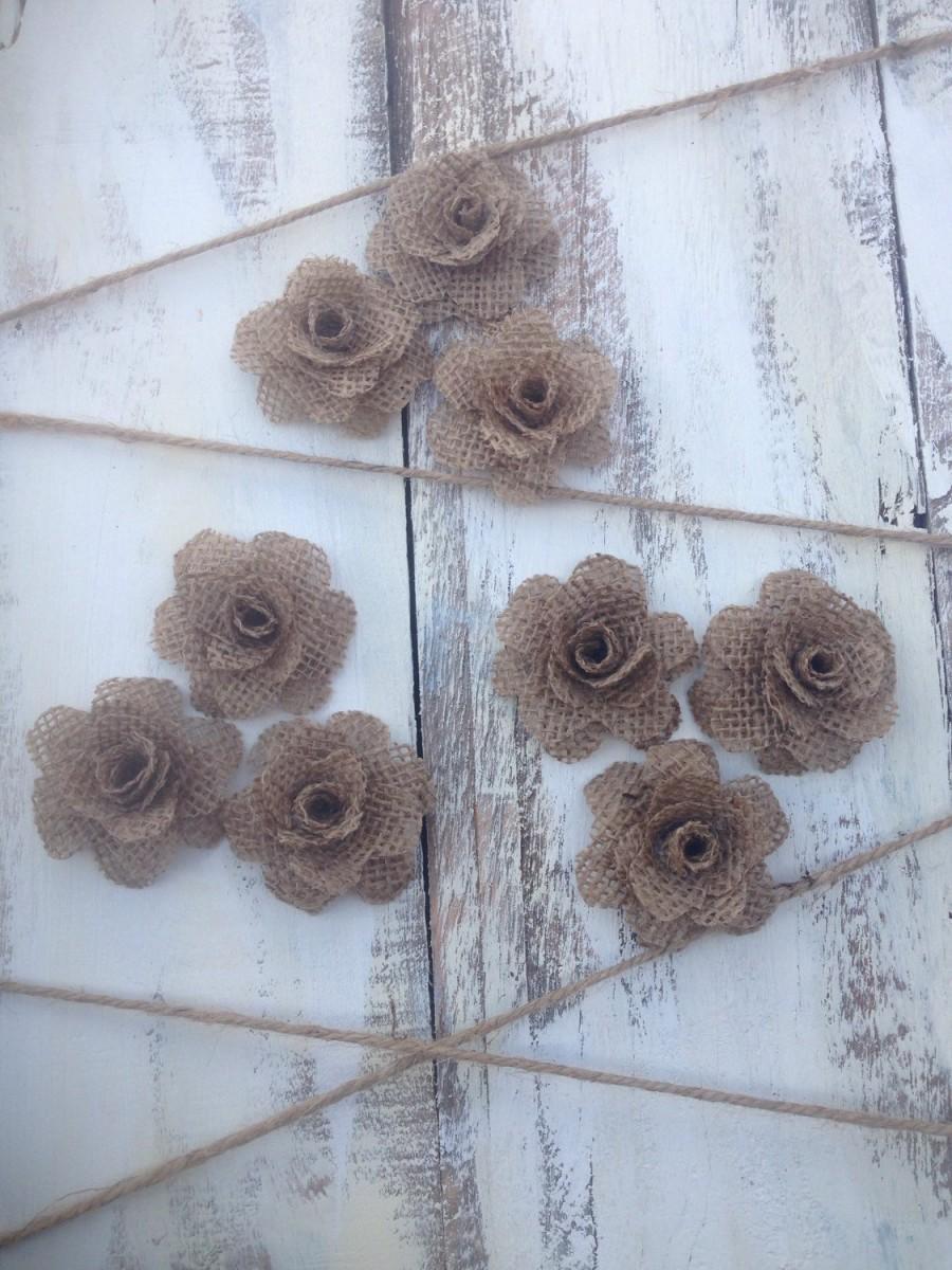 Mariage - Burlap Flowers
