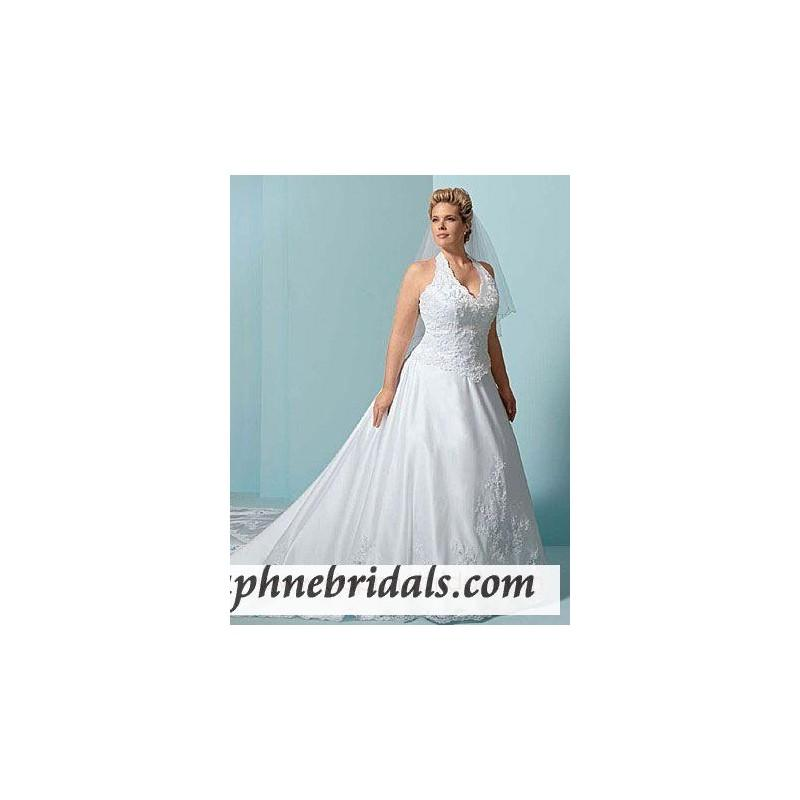 Alfred Angelo Style 1846W Plus Size Bridal Gowns - Compelling ...