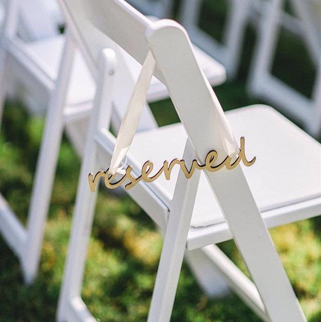 Свадьба - Reserved Laser Cut Sign
