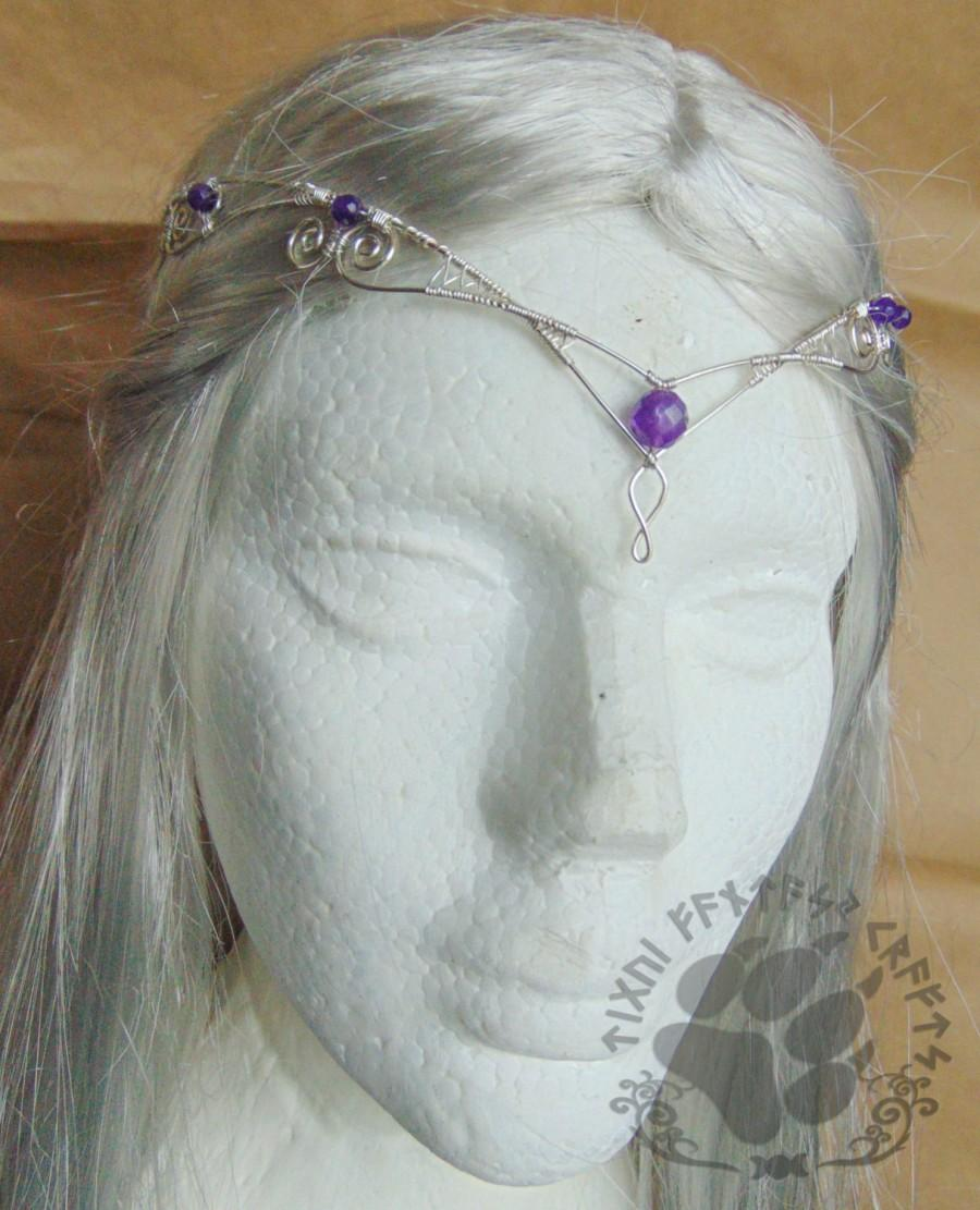 Mariage - Elven circlet,Celtic Circlet,Celtic head dress , celtic tiara, celtic wedding, elven headpiece, elven head dress, Larp , pagan wedding