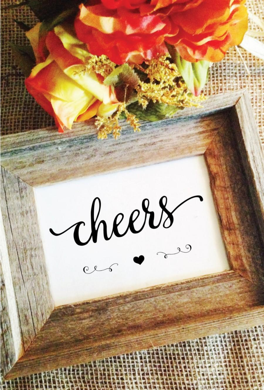 Свадьба - heart- cheers sign (Lovely) wedding cheers (Frame NOT included)