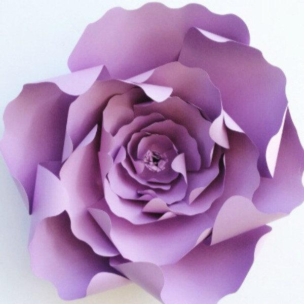Paper Flower Template DIY Paper Flower Pattern Paper Flower