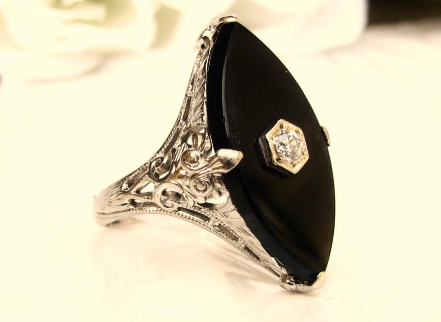 deco onyx ring alternative antique