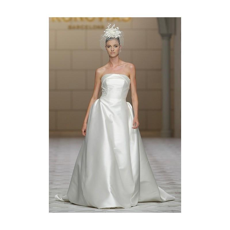 Wedding - Pronovias - Fall 2015 - Chandra Strapless Silk Mikado A-line Straight Neckline Wedding Dress - Stunning Cheap Wedding Dresses