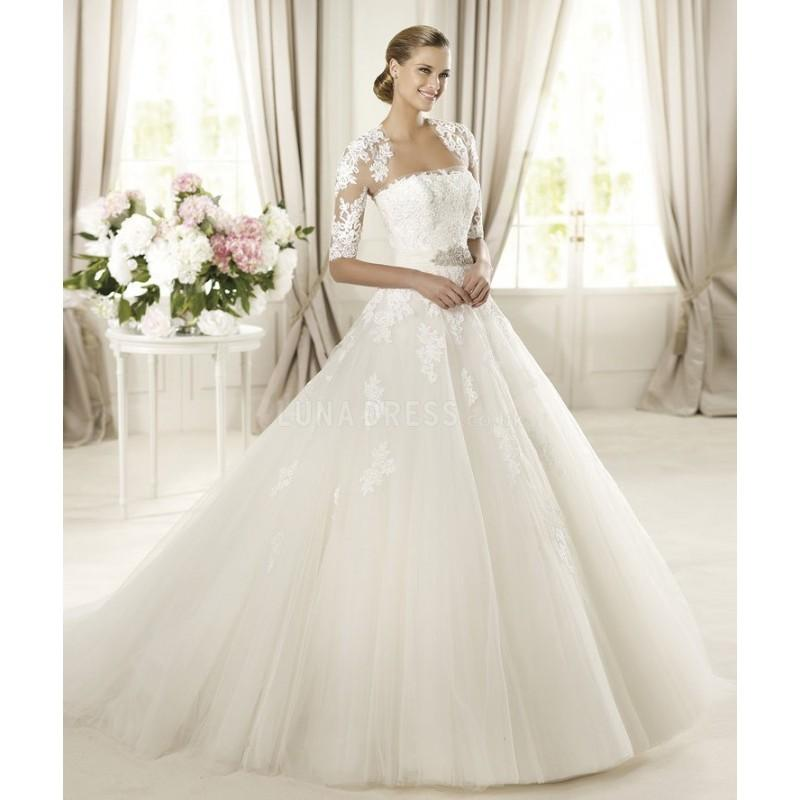 Wedding - Elegant Tulle Ball Gown Strapless Natural Waist Floor Length Wedding Gowns - Compelling Wedding Dresses