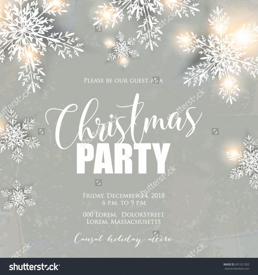 Merry Christmas Party Invitation And Happy New Year Party ...