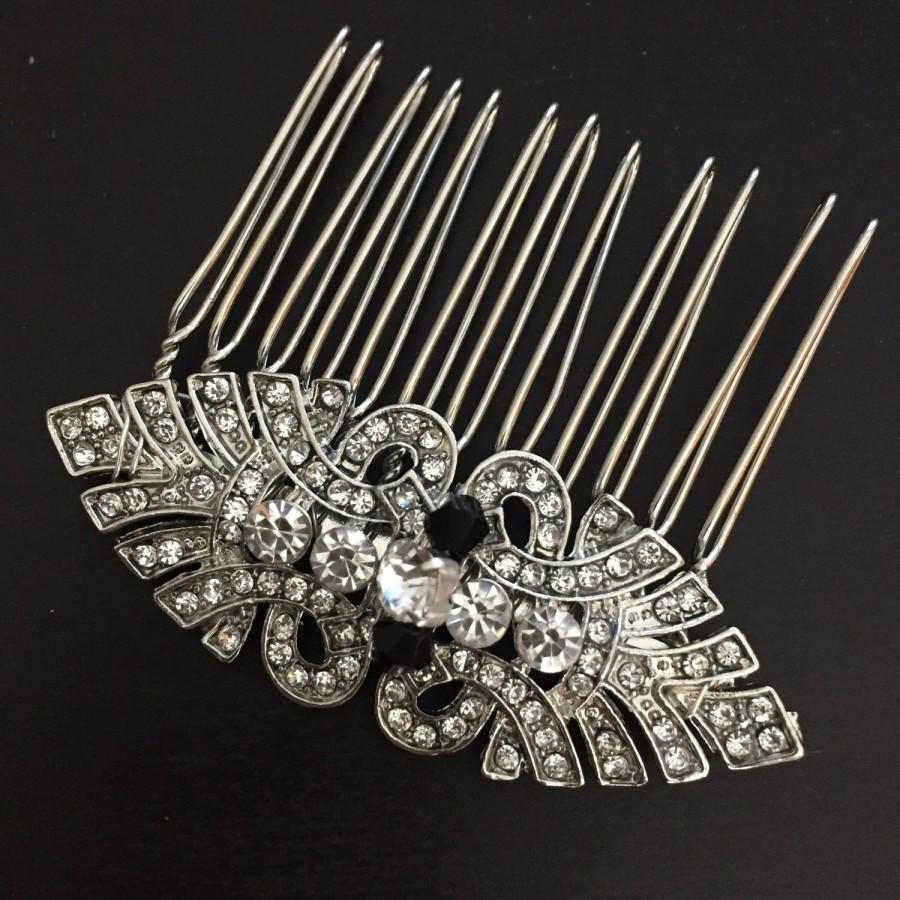 Mariage - Art deco hair comb -Vintage style hair comb - Wedding hair comb - Bridal Hair Accessories - wedding headpiece