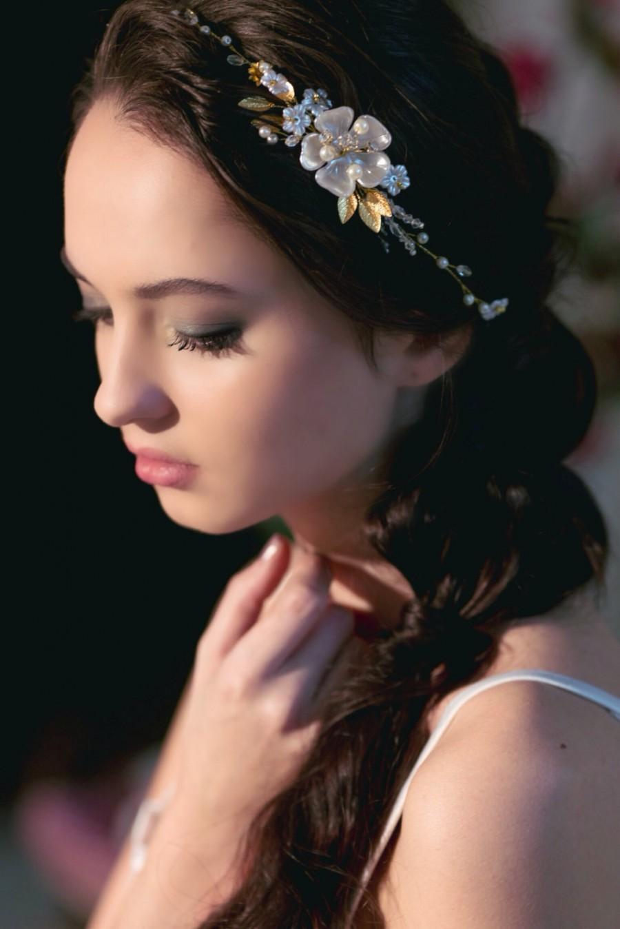 Flower Bridal Headband Tiara Bridal Crown Bridal Hair Vine Bridal