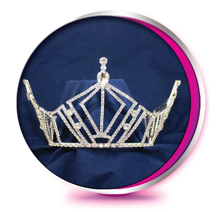 Свадьба - The Valerie - Rhinestone Tiara - Pageant, Wedding, Prom, Homecoming, or Bridesmaid Full Round Crown