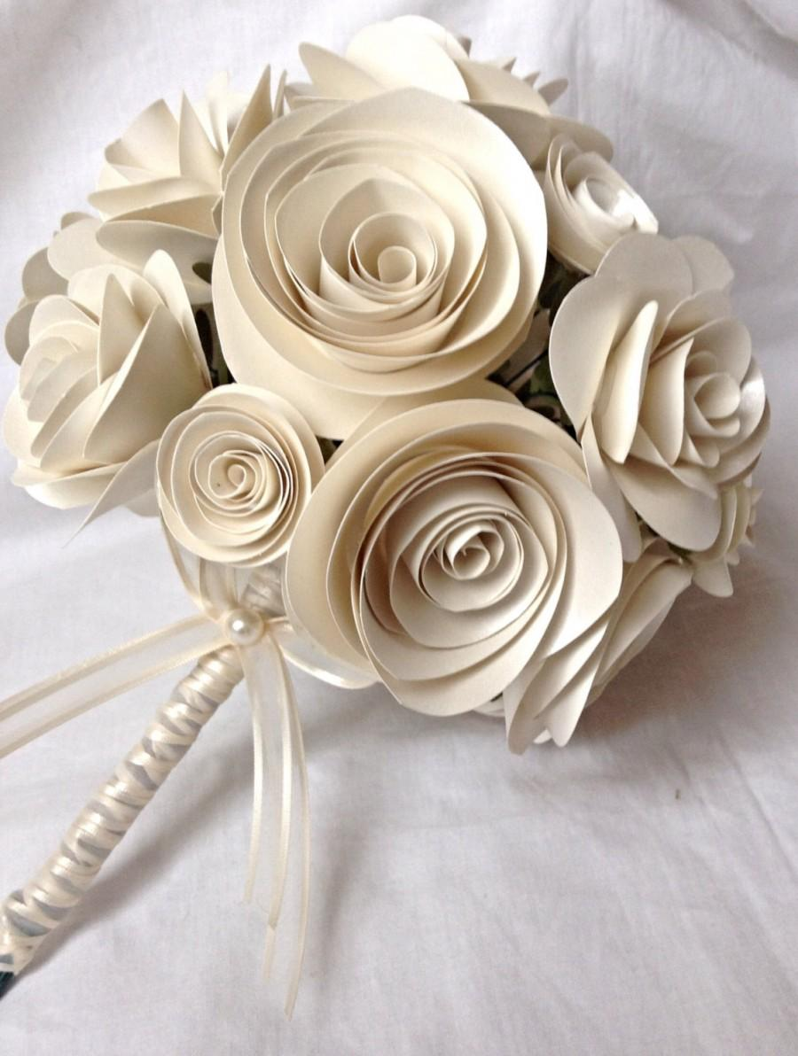 Bridal bouquet bridesmaid bouquet spring bouquet rose bouquet bridesmaid bouquet spring bouquet rose bouquet paper roses ivory roses bridesmaid bouquet flower girl bouquet izmirmasajfo