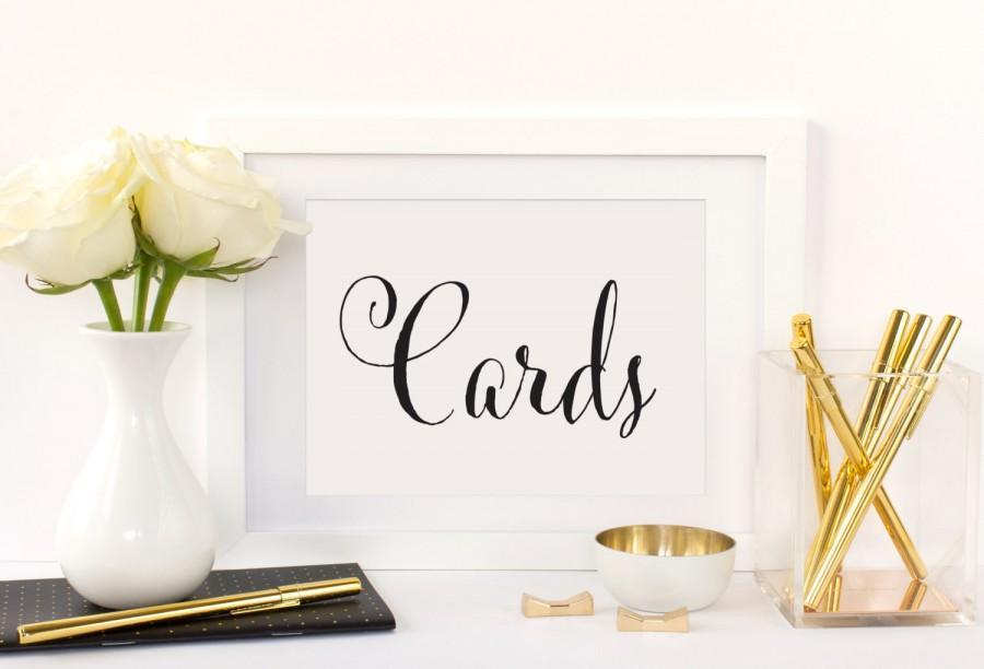 Wedding Cards Table Sign Wedding Card Box Sign Card Box For