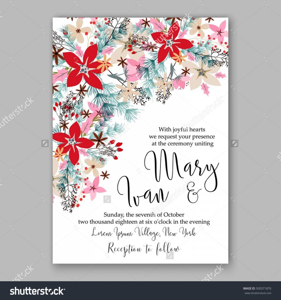 christmas card invitation
