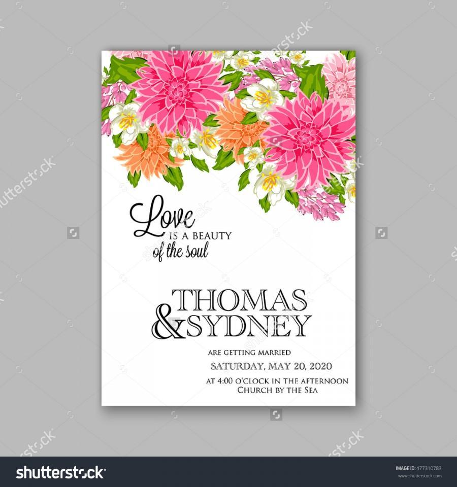Свадьба - Wedding invitation or card with tropical floral background. Greeting postcard in grunge retro vector Elegance pattern with flower rose illustration vintage chrysanthemum Valentine day card Luau Aloha