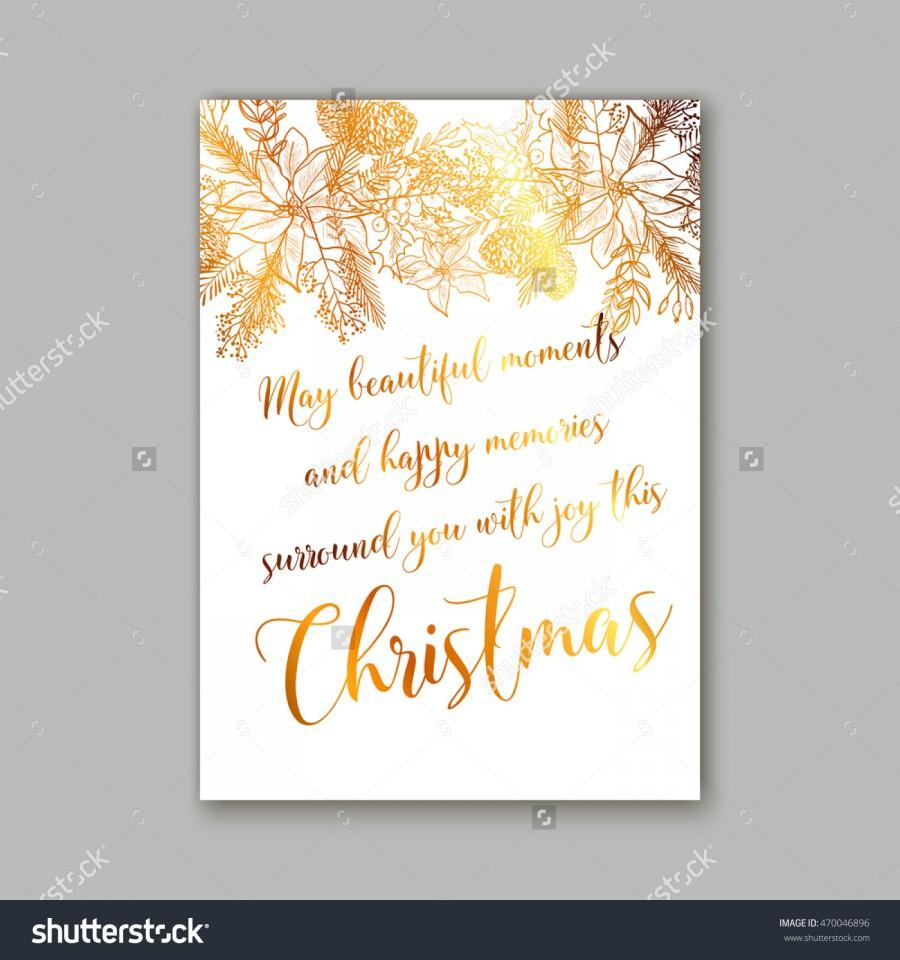 floral merry christmas invitation with winter christmas wreath merry christmas and happy new year card text may beautiful moments and happy memories