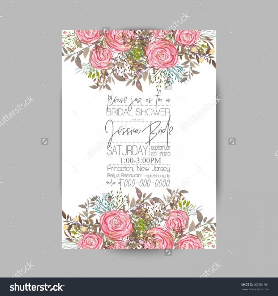 Wedding Invitation Template Sweet Wedding Bouquets Of Rose Peony