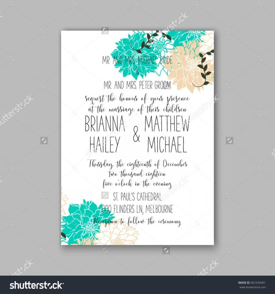 Wedding - Wedding invitation or card with tropical floral background. Greeting postcard in grunge retro vector Elegance pattern with flower rose illustration vintage style Valentine's day card Luau Aloha