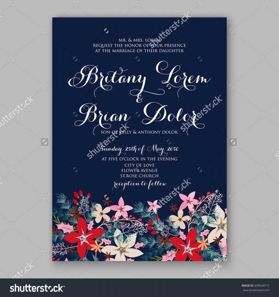 Mariage - Floral template