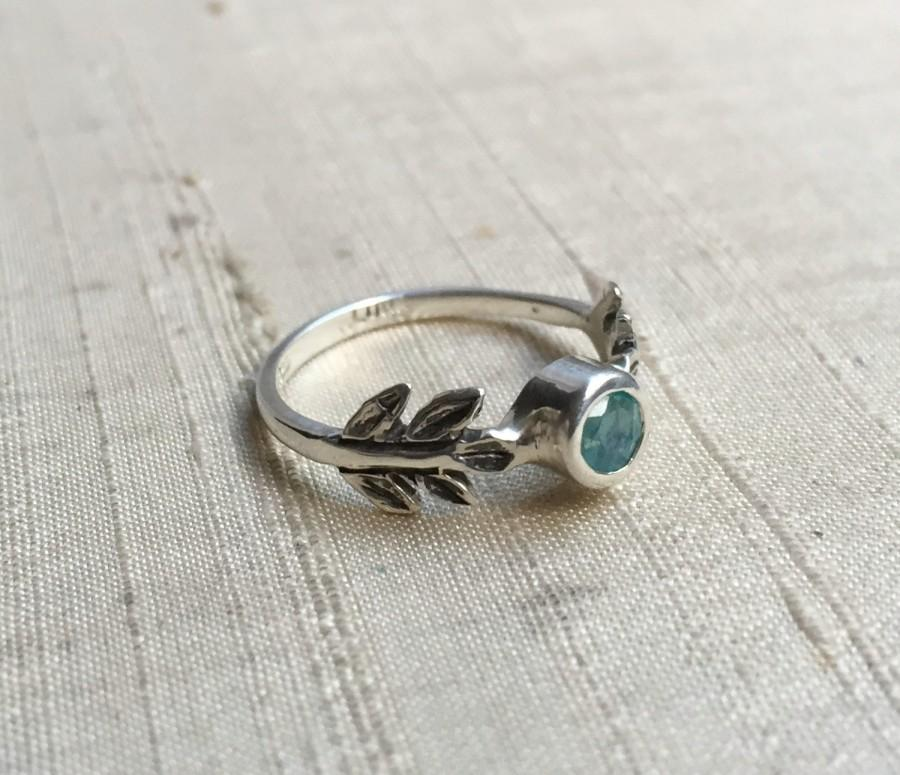 SALE Treated Blue Opal And Sterling Silver- The Fire Leaf