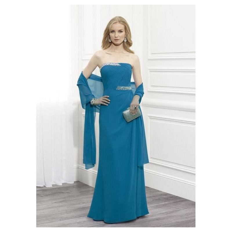 Wedding - Amazing Chiffon Sheath Strapless Floor-length Mother of the Bride Dresses with Detachable Shawl - overpinks.com