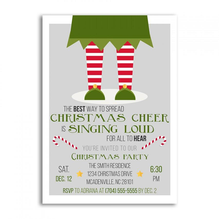 Christmas Invitations, Christmas Invitation, Elf Christmas Party ...