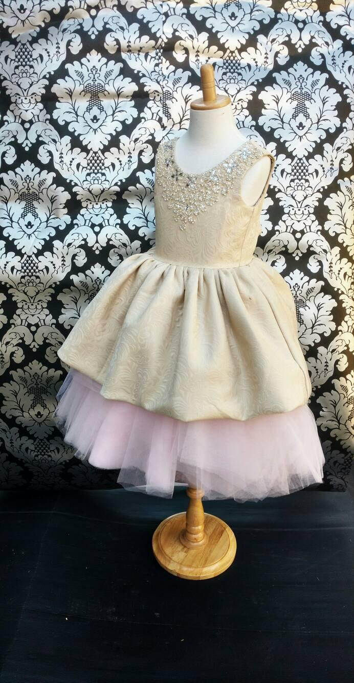 Mariage - Luxurious Flower Girl Tutu Dress for Wedding Girls Birthday Party Special Occasion Dress Customize to suit your Colour theme