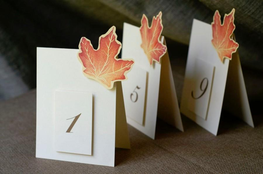 Mariage - Table Numbers for Autumn or Fall - Events - Weddings - Holidays - Celebrations - Seating
