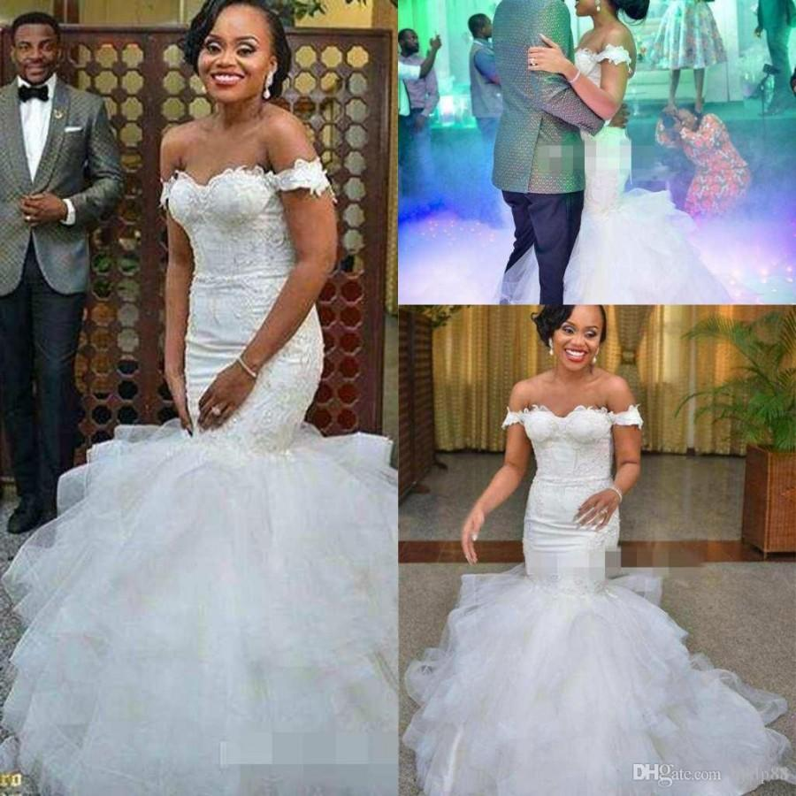 Africa Off The Shoulder Mermaid Wedding Dresses Elegant