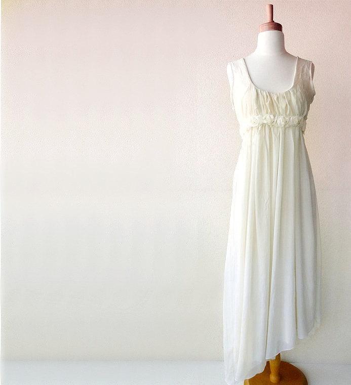 Mariage - Aphrodite wedding gown - silk chiffon and organic cotton - custom made
