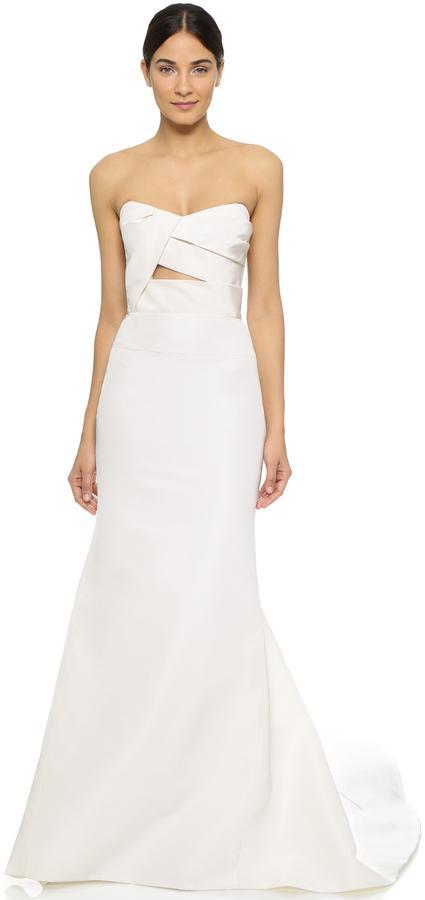 زفاف - J. Mendel Adelaide Strapless Bustier Gown