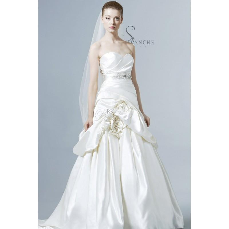 Saison blanche bridal spring 2013 style 4217 duchess for Satin silk wedding dresses