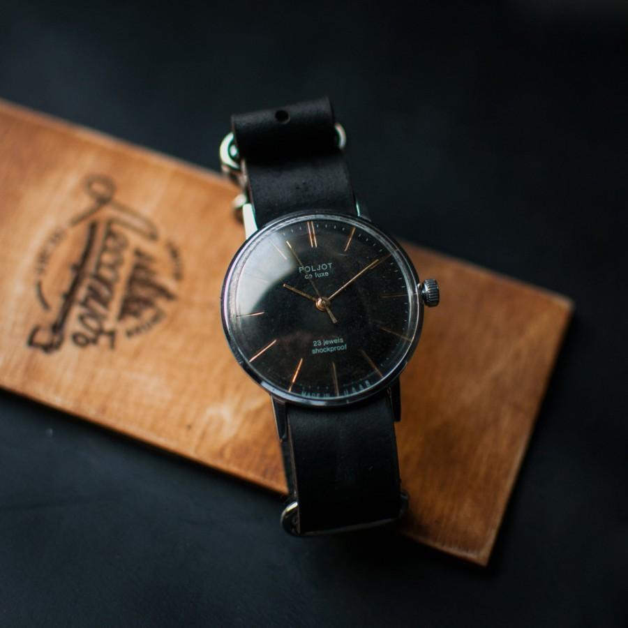 Wedding - Black watch, Poljot de luxe, USSR watch, vintage watch, mens watch, soviet watch, mens watches, watches for men