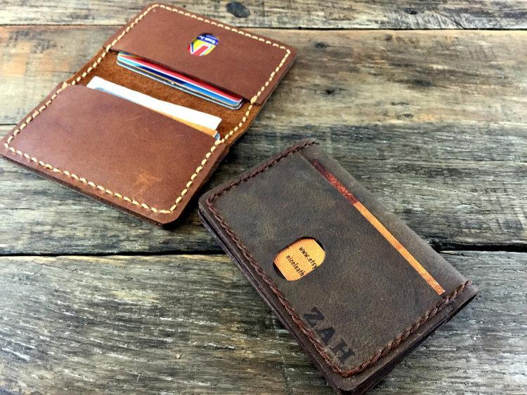 Hochzeit - Mens Leather Wallet Minimalist, Slim wallet, Card Wallet, Thin Wallet, Leather Wallet,