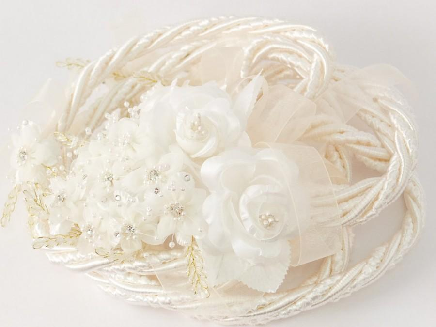 زفاف - Ivory Wedding Lasso - Ivory Flower Wedding Lazo de Boda - Ivory Wedding Lasso Cord (4442-IVR)