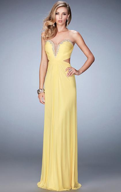 Wedding - Online Long Yellow Tailor Made Evening Prom Dress (LFNCE0056) cheap online-MarieProm UK