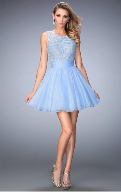 Wedding - Beautiful Short Blue Tailor Made Cocktail Prom Dress (LFNCE0052) cheap online-MarieProm UK