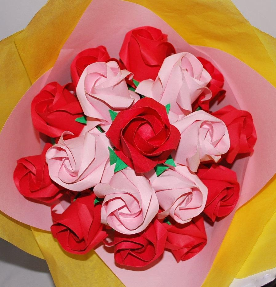 Origami Roses Paper Rose Bouquet Paper Flower Bouquet