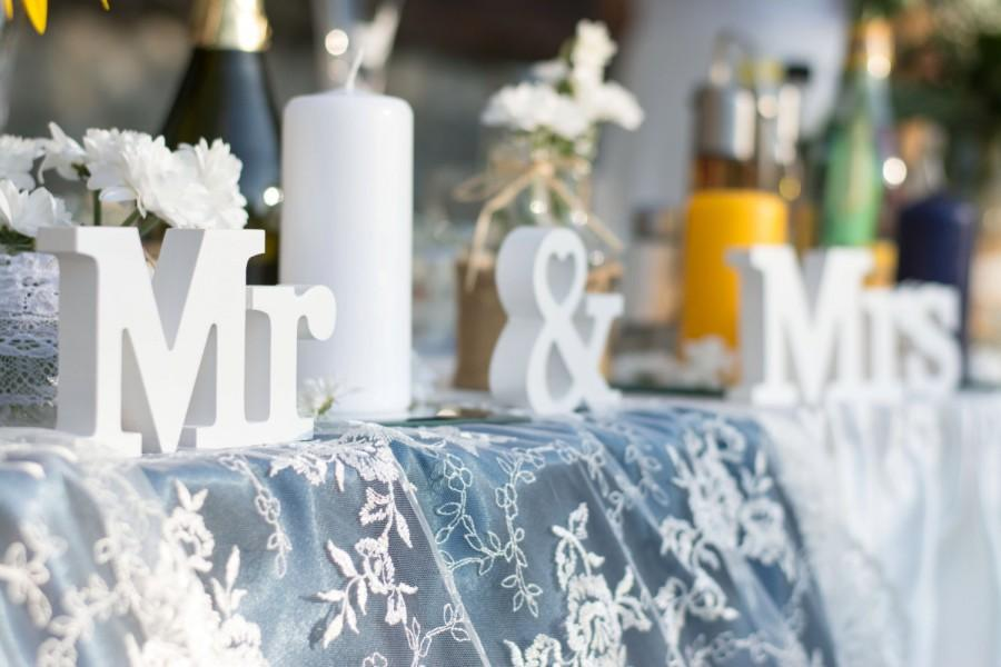 Mr And Mrs Sign Wedding Table Decoration Mr And Mrs Set