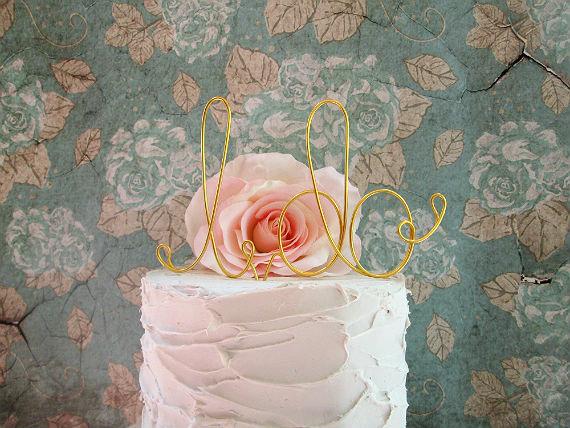 Mariage - I DO - Cake Topper- Shabby Chic Cake Topper, Shabby Chic Wedding, Rustic Cake Topper, Garden Party, Barn Wedding