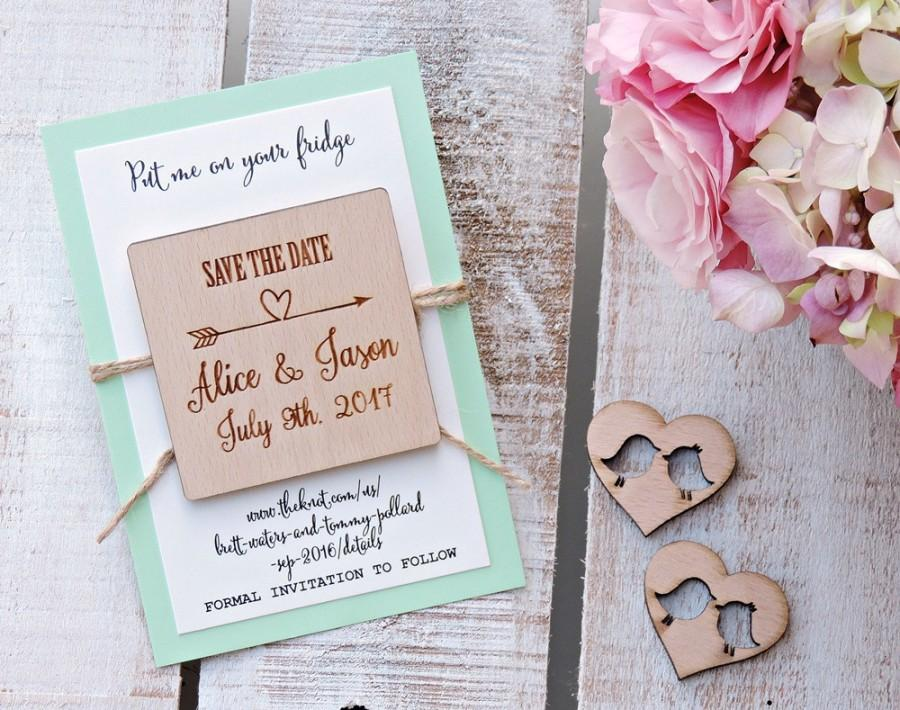 زفاف - Wedding Wood Save-the-Date Magnet, Wood Magnet, Wooden Magnet, Save The Date Magnet, Wooden Save The Date Magnet, Rustic Save The Date
