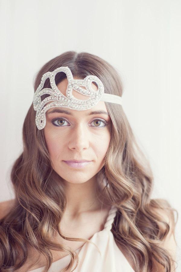 Wedding - 1920's inspired rhinestone headband