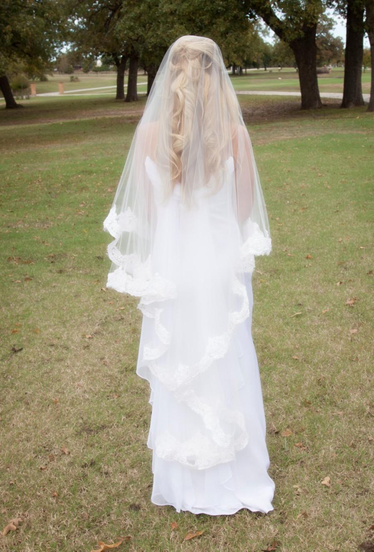 Mariage - Lace Drop Veil