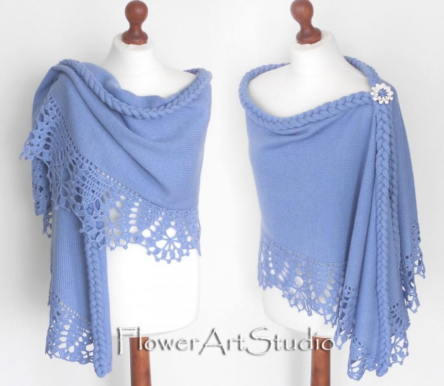 135ea6f181 Blue Wedding Wrap, Bridal Shawl, Bridal Cover Up, Wedding Bolero, Light  Blue Shrug, Crochet Shawl, Capelet, Bridal Cape, Bridesmaid shawl.