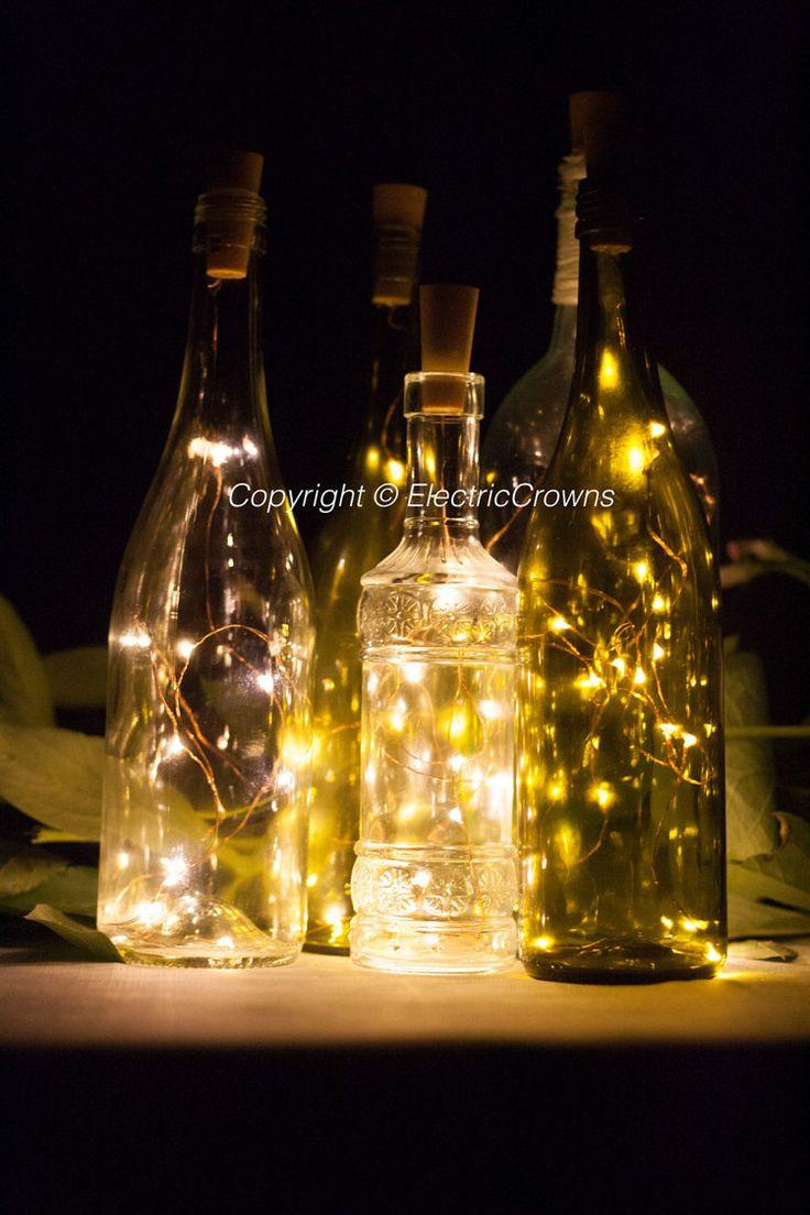 زفاف - Wine Bottle Lights Table Decor