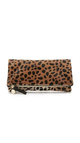 Hochzeit - Supreme Haircalf Fold Over Clutch