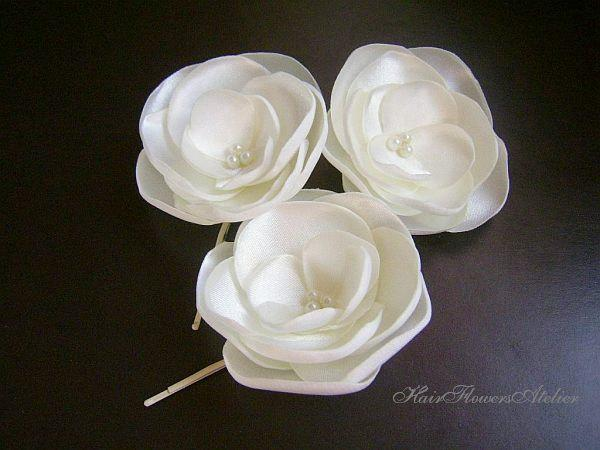 ivory wedding hair flowers ivory boutonniere ivory bridal hair