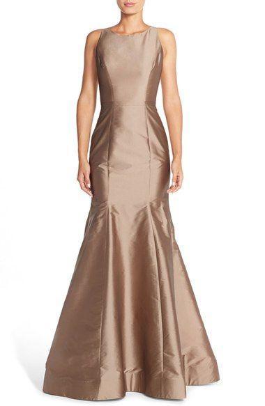 Wedding - Back Cutout Taffeta Mermaid Gown